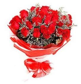 Ankara Dikmen Mürseluluç hediye çiçek yolla  12 adet kırmızı güllerden görsel buket