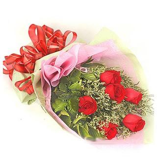 Öveçler Dikmen anneler günü çiçek yolla  6 adet kırmızı gülden buket
