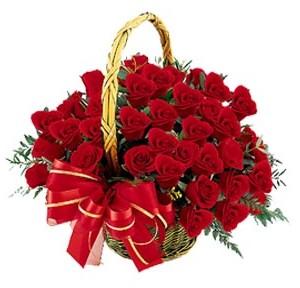 Dikmen Keklikpınarı çiçek online çiçek siparişi  41 adet kırmızı gül sepeti aranjmanı