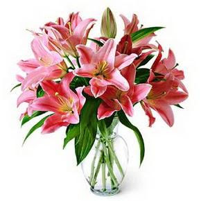 3 dal kazablanka görsel vazosu Aşağı Dikmen ankara çiçekçi telefonları yurtiçi ve yurtdışı çiçek siparişi
