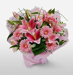 1 dal kazablanka ve kır çiçek görsel buketi Ankara Dikmen kaliteli taze ve ucuz çiçekler