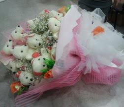 Aşağı Dikmen ankara çiçekçi telefonları yurtiçi ve yurtdışı çiçek siparişi  21 adet ayıcıktan ayı buketi