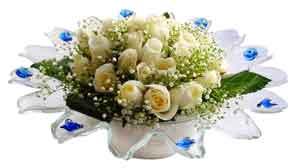 Dikmen Metin Akkuş çiçek satışı , çiçekçi , çiçekçilik  11 adet Beyaz güller özel cam tanzim