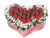 Dikmen Ankara çiçek gönder uluslararası çiçek gönderme  mika kalpte kirmizi güller 9
