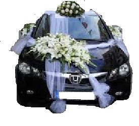 Dikmen Akpınar Ankara  hediye sevgilime hediye çiçek  Çift çiçekli sünnet düğün ve gelin arabası süsleme