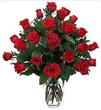 Dikmen ankara çiçek mağazası , çiçekçi adresleri  24 adet kırmızı gülden vazo tanzimi