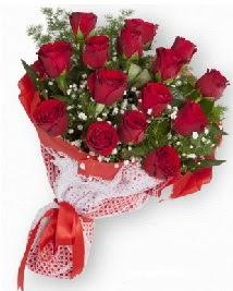 11 kırmızı gülden buket Ankara Dikmen çiçek siparişi sitesi