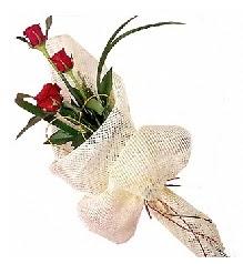 3 adet kırmızı gül buketi Ankara Dikmen çiçek siparişi sitesi