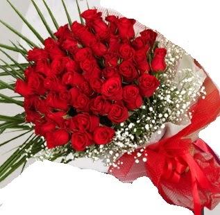 51 adet kırmızı gül buketi Ankara Dikmen Osmantemiz online çiçek gönderme sipariş