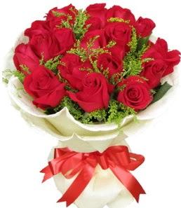19 adet kırmızı gülden buket tanzimi ankara çiçekçi Dikmen ucuz çiçek gönder