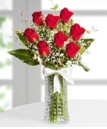 7 Adet vazoda kırmızı gül sevgiliye özel Dikmen ankara çiçek mağazası , çiçekçi adresleri