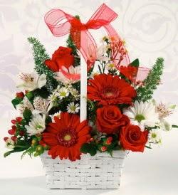 Karışık rengarenk mevsim çiçek sepeti Aşağı Dikmen ankara çiçekçi telefonları yurtiçi ve yurtdışı çiçek siparişi