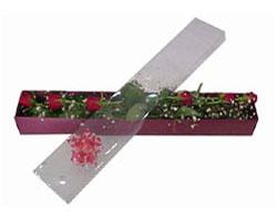 ankara çiçek yolla Dikmen malazgirt çiçekçi telefonları   6 adet kirmizi gül kutu içinde