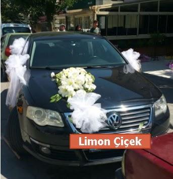 Gelin arabası süslemesi düğün arabası Ankara Dikmen cicekciler , cicek siparisi