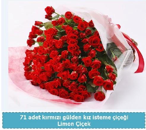 41 adet kırmızı gül kız isteme buketi Dikmen Ankara çiçek gönder uluslararası çiçek gönderme