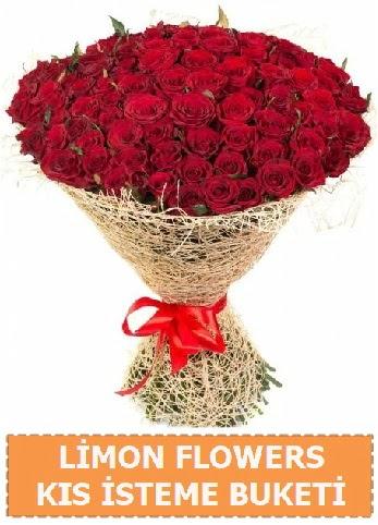 Kız isteme çiçeği modeli 61 adet gül Ankara Dikmen cicekciler , cicek siparisi
