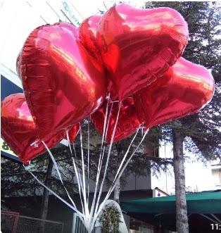 8 adet folyo kalp uçan balon Dikmen Akpınar Ankara  hediye sevgilime hediye çiçek