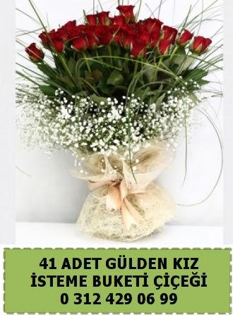 41 kırmızı gülden kız isteme çiçeği buketi Ankara Dikmen Osmantemiz online çiçek gönderme sipariş w
