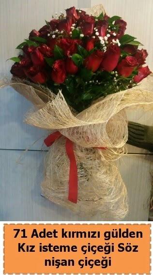71 adet kırmızı gül söz nişan çiçeği Ankara Dikmen 14 şubat sevgililer günü çiçek