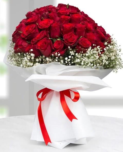 41 adet kırmızı gül buketi Ankara Dikmen 14 şubat sevgililer günü çiçek  süper görüntü