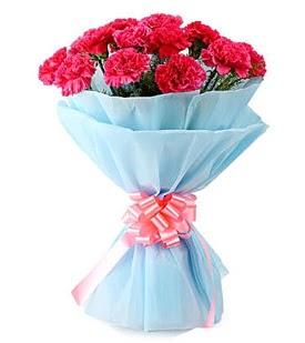 19 adet kırmızı karanfil buketi ankara çiçek yolla Dikmen malazgirt çiçekçi telefonları