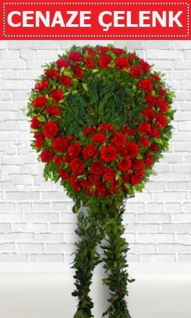Kırmızı Çelenk Cenaze çiçeği Dikmen Keklikpınarı çiçek siparişi vermek