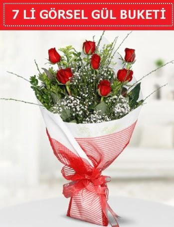 7 adet kırmızı gül buketi Aşk budur Ankara Dikmen 14 şubat sevgililer günü çiçek