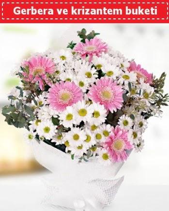 Papatya ve Gerbera Buketi Öveçler Dikmen anneler günü çiçek yolla