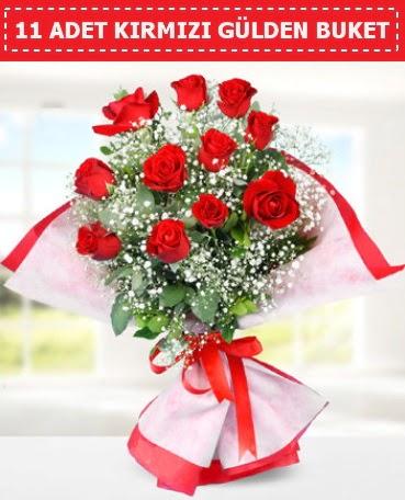 11 Adet Kırmızı Gül Buketi Aşağı Dikmen ankara çiçekçi telefonları yurtiçi ve yurtdışı çiçek siparişi