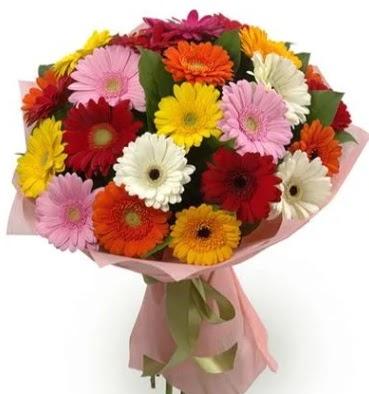 Karışık büyük boy gerbera çiçek buketi Ankara Dikmen 14 şubat sevgililer günü çiçek