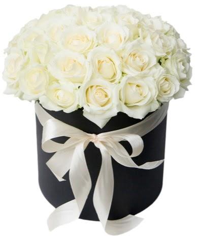 41 adet özel kutuda beyaz gül Ankara Dikmen 14 şubat sevgililer günü çiçek  süper görüntü
